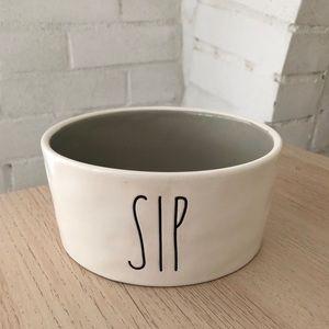 Rae Dunn SIP dog or cat water bowl